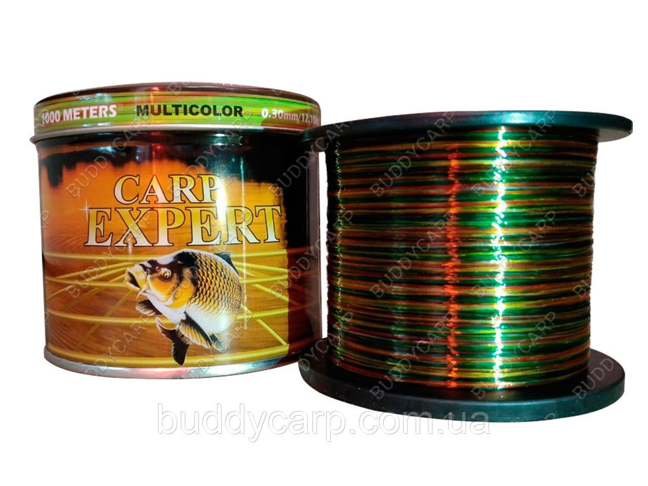 Волосінь 0.25 mm 1000 метрів Multicolor Carp Expert