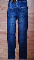 Джеггинсы - лосины  бесшовные  под джинс. Высокий пояс-корсет.  Весна/осень 44-50 р, фото 1