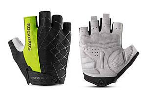 Перчатки RockBros Spyder, черно-зеленые, S