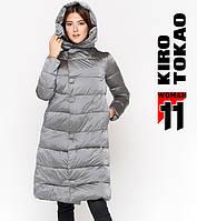 11 Kiro Tokao | Теплая женская куртка 818 серая