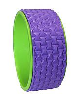Йога кольцо (колесо) Yoga Wheel BS, рельефный, 32х13 см, разн. цвета
