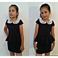 Школьное платье с белым воротничком, фото 1