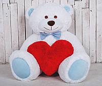 Большая мягкая игрушка мишка с сердцем Yarokuz Билли 150 см белый (YK-0047)