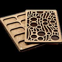 Органайзер для бисера с деревянной крышкой FLZB-052