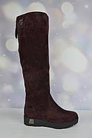 Бордовые женские зимние сапоги Polann