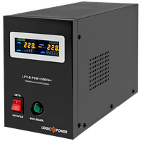 ИБП LogicPower LPY-B-PSW-1500VA+ (1050Вт)10A/15A,  Lin.int., AVR, 2 x евро, металл