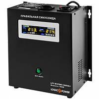 ИБП LogicPower LPY-W-PSW-1500VA+ (1050Вт)10A/15A, Lin.int., AVR, 2 x евро, металл