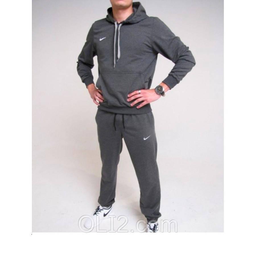 Мужской теплый спортивный костюм NIKE на флисе