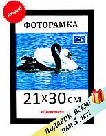 Фоторамка пластиковая А4, 21х30, рамка для фото, дипломов,сертификатов, грамот, вышивок 1611-101