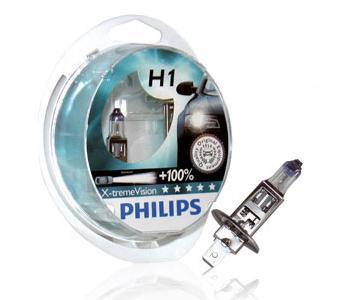 Лампа Philips 12258XVS2 H1 X-treme Vision SP 12V55W (к-т2шт)