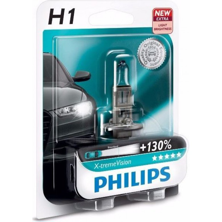 Лампа Philips 12258XVB1 H1 X-treme Vision BP 12V55W блистх1шт