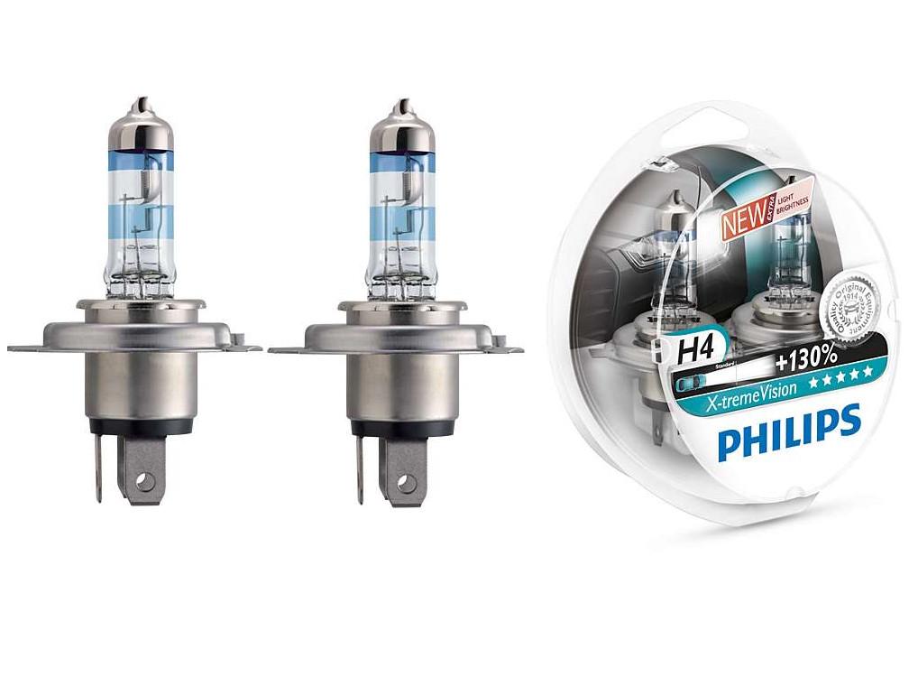 Лампа Philips 12342XV+S2 New H4 X-treme Vision 12V60/55W P43t-38+130% (к-т 2 шт)