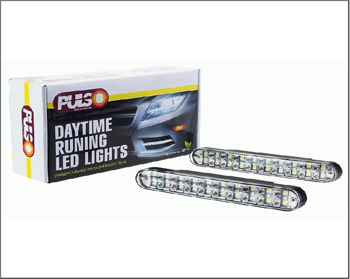 Фари протитуманні/денного світла LP-35200 DRL 20SMD5050/6W/12V/пластик/190*25мм/з поворотами