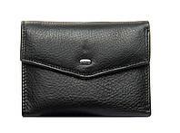 Женский кожаный кошелек  14.5*9*2.5 черный, фото 1