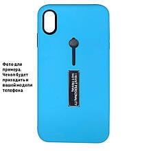 Накладка / Бампер KICKSTAND SOFT TOUCH Голубой для телефона iPhone 11 pro MAX