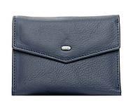 Женский кожаный кошелек  14.5*9*2.5 синий, фото 1