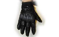 Мотоперчатки кожаные FOX MS-369-BK (закр.пальцы, протектор-усилен, р-р L,XL, черный)