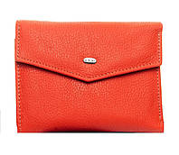 Женский кожаный кошелек  14.5*9*2.5 оранжевый, фото 1