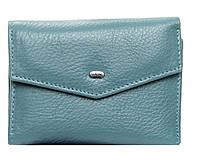 Женский кожаный кошелек  14.5*9*2.5 голубой, фото 1