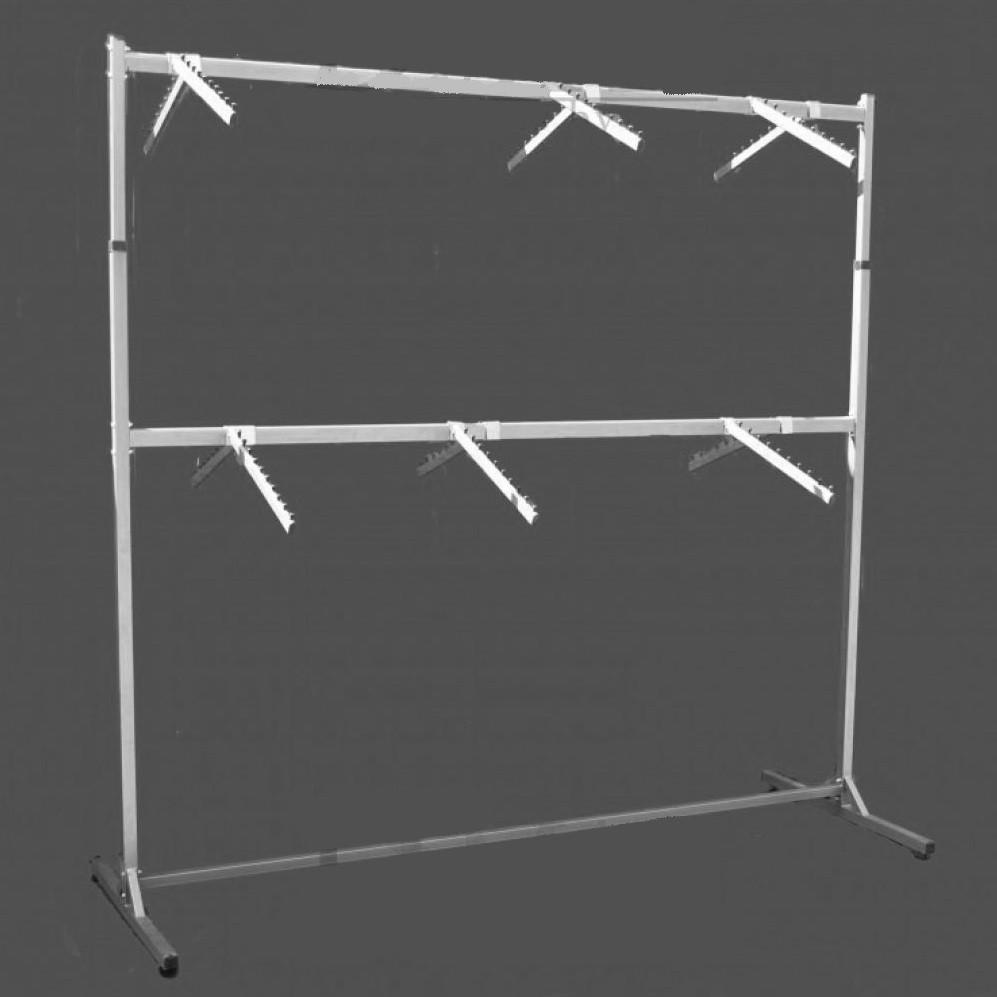 Стойка для одежды на две стороны двухярусная с флейтами 120 см