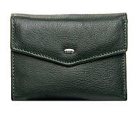 Женский кожаный кошелек  14.5*9*2.5 зеленый, фото 1