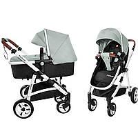 Универсальная коляска-трансформер светло-зеленая Carrello Fortuna 9001/1 Forest Green деткам от рождения