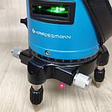 Лазерный уровень нивелир KRAISSMANN 5LL30 зеленый луч, фото 5