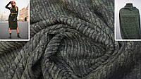 Ткань трикотаж ангора полоска хаки + темно зелёный, фото 1