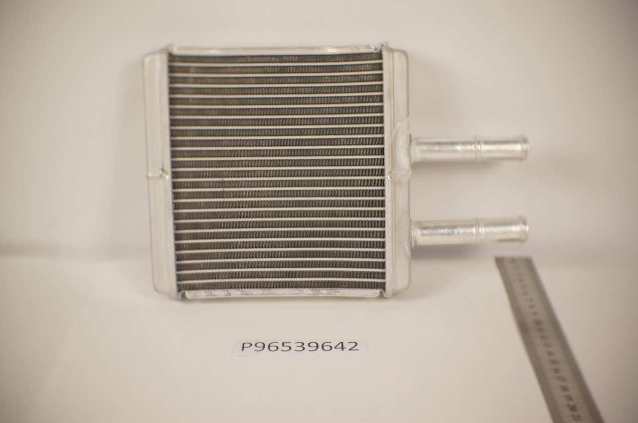 Радиатор печки Chevrolet Aveo (195*150мм плоские соты) KEMP