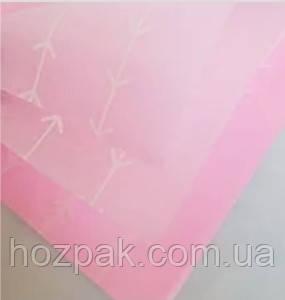 """Фетр ламінований для квітів 60х60 см.(20 шт.) """"Стріли рожеві"""""""