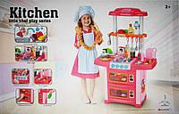 Набор кухня звук, свет, вода, розовая в коробке