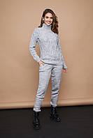 Теплый и мягкий вязаный костюм для девушек на осень зиму 2020