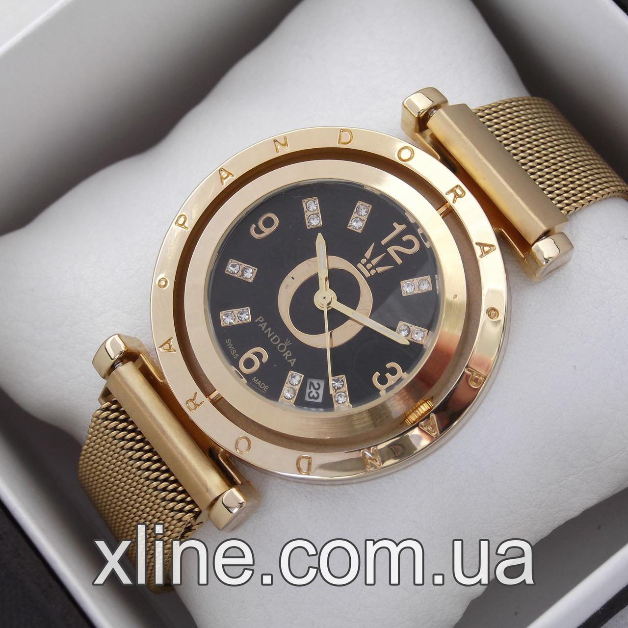 Жіночі наручні годинники Pandora A187 на металевому браслеті