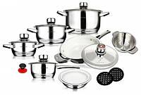 Набор посуды из нержавеющей стали 16 предметов Swiss Hufeisen 16 предметов SF-4002
