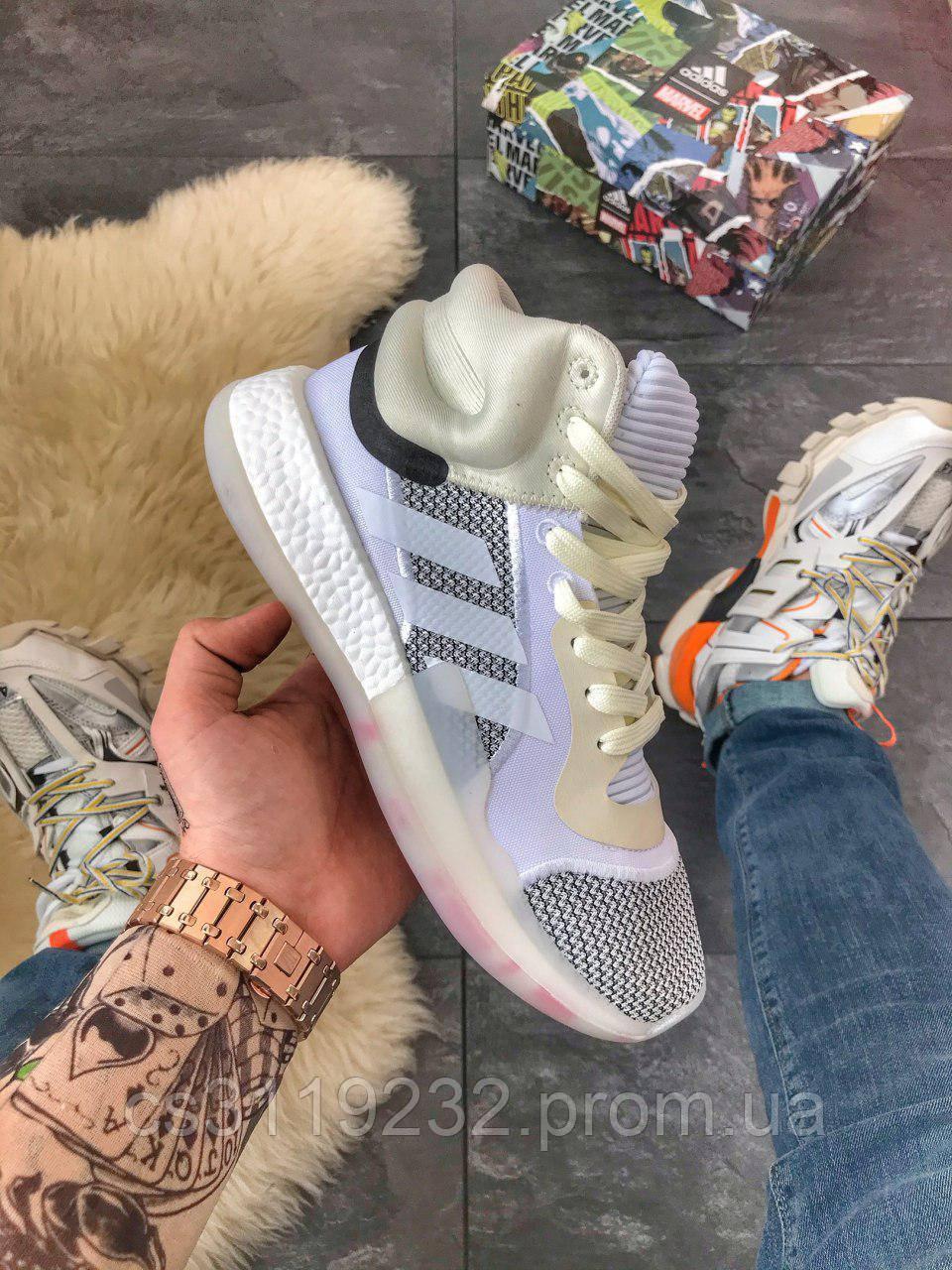 Мужские кроссовки Adidas Marquee Boost (еврозима) (серые)