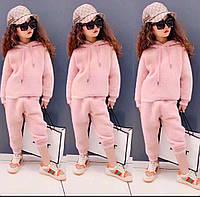 Детский теплый спортивный костюм для девочки  размер 120,130,150 (на 3,4, 6 лет)
