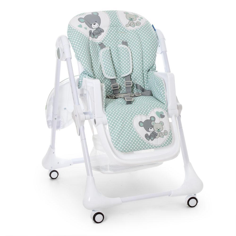 Детский стульчик для кормления Bambi M 3233 TEDDY SAGE на колесиках