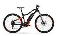 "Велосипед Haibike Sduro Hardnine 2.0 29"" 400Wh, рама 55 см, 2018, серо-оранжевый"