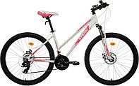 """Велосипед горный женский Stern Mira 1.0 26"""", белый/розовый, 150-165"""