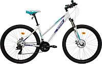 """Велосипед горный женский Stern Mira 2.0 27,5"""", белый/синий, 165-175"""