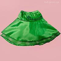 Нарядная детская зеленая юбка. Смотрите подробное видео ниже в описании