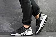 Мужские кроссовки черные с серым и белым Adidas Equipment adv 91-18 7921