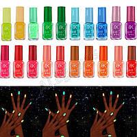 Лак для ногтей флуоресцентный. светится в темноте