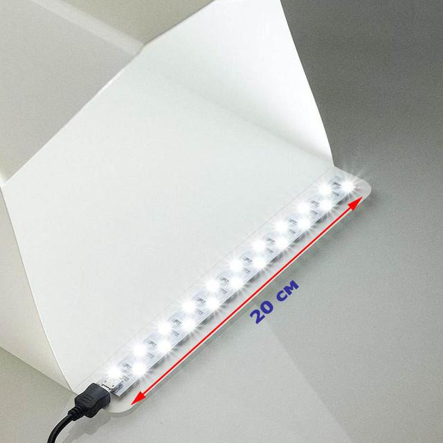 Светодиодная лента 20 см с micro USB для лайтбокса