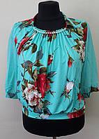 Шикарная блузка с цветами