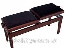 Банкетка для піаніно з регульованою висотою для 2-х коричневий