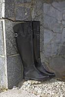 Сапоги ботфорты Viscala женские кожаные черные, зима овчина 37 38 39