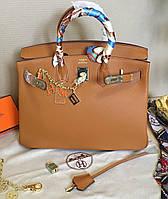 Кожаная женская сумка Hermes Birkin 35см. Люкс реплика!