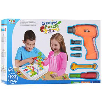 Мозаика конструктор с шуруповертом Creative Puzzle 2D