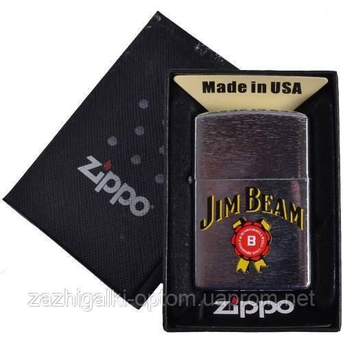 Запальничка бензинова Zippo в подарунковій упаковці 4737-2 (Jim Beam)